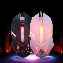 1600DPI USB Wired LED Optical Gaming Mouse Buttons Laptop Co