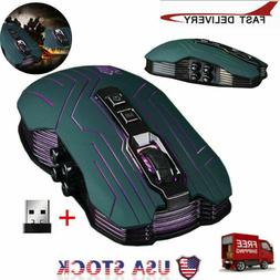 3200DPI Optical 2.4G Wireless Gaming Mouse 9 Button Gamer La