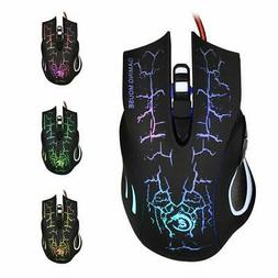 5500DPI LED Optical USB Wired Gaming Mouse Mice for laptops