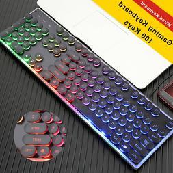7 Colours USB Wired Backlight Gamer Gaming LED Keyboard Illu