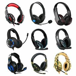 9 Style Pro Gamer Gaming Headset Mic Headphones For PS4 Xbox
