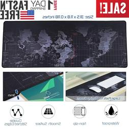 Extended Gaming Mouse Pad Mat 800X300x3mm World Map For Game