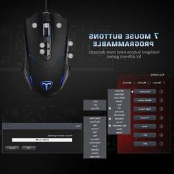 Gaming Wired Mouse 7200 DPI 7 BUTTON USB Mice RGB Gamer Desk