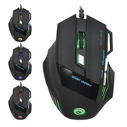 5500DPI LED Optical USB Gaming Mouse 7 Button Gamer Laptop P