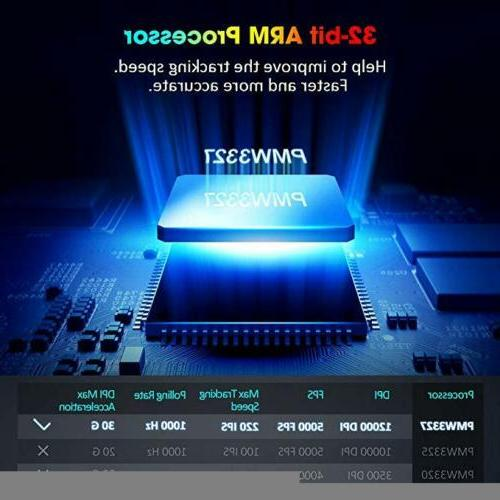 12000 DPI Mouse 10Programmable for Laptop PC Gamer