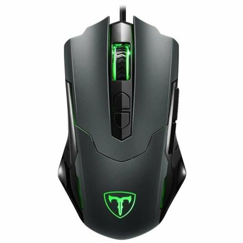 7200 dpi led optical wired gaming mouse