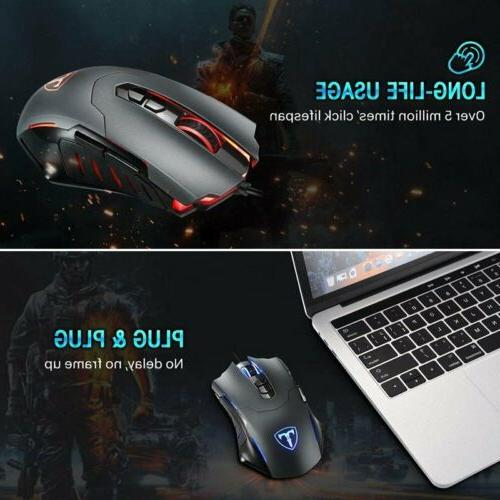 7200 DPI Optical Wired Mouse 7 Buttons Gamer Laptop for