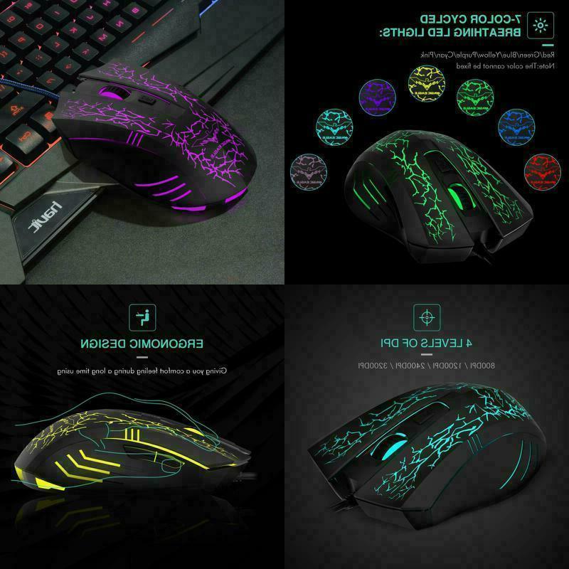 Gaming Mouse Raton Ergonomico Computadora Profesional