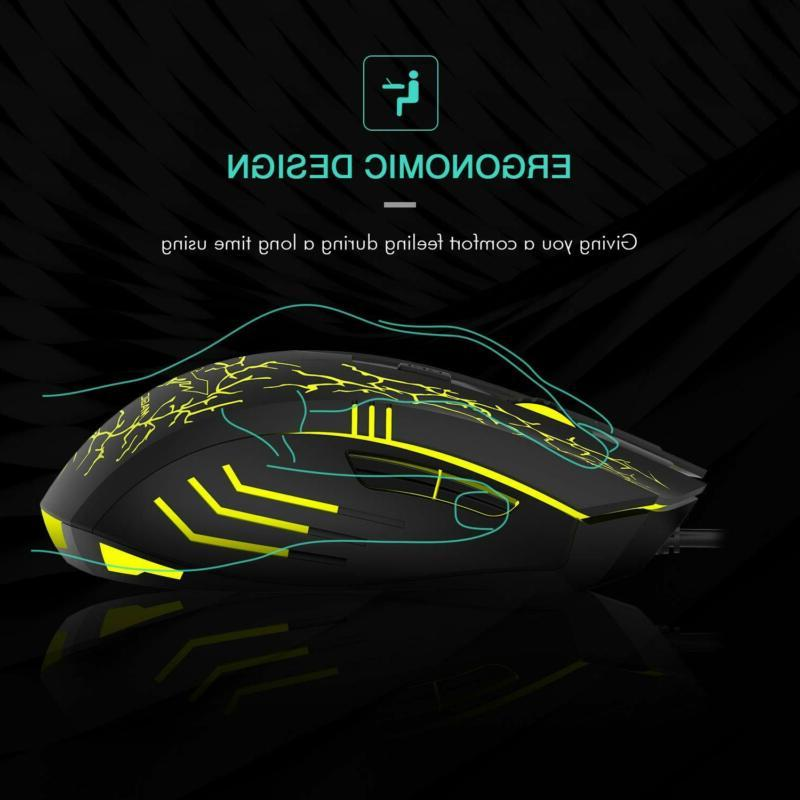 Gaming Mouse Inalambrico Ergonomico Computadora Laptop Profesional