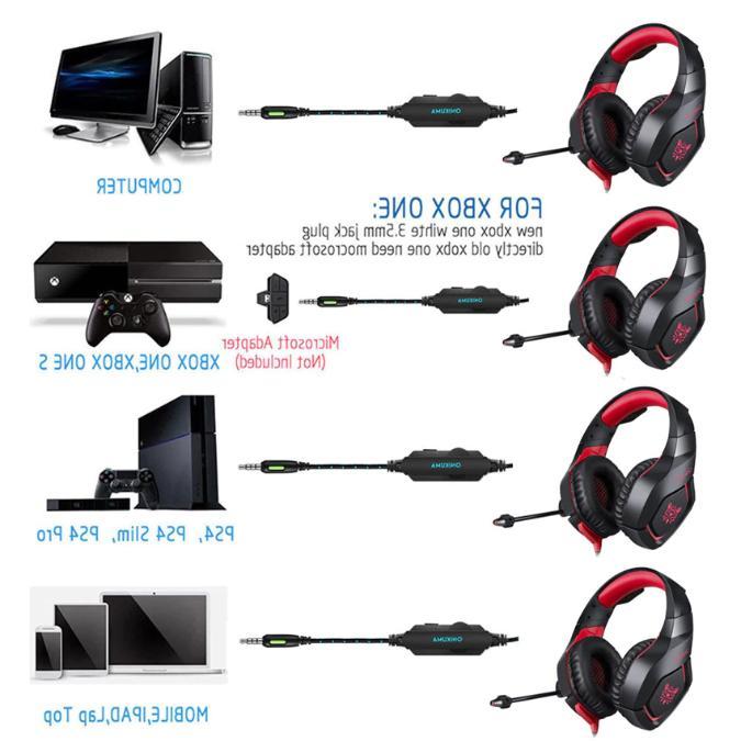 ONIKUMA K1 Headset Stereo Mic For Laptop Tablet