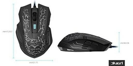 Mouse Gaming Optical Mice Led Pc 4 Dpi level 6
