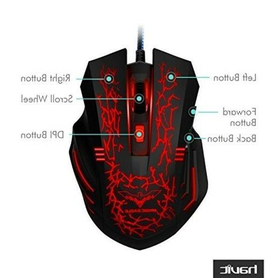 Mouse Mice Usb Led Pc 4 Dpi 6