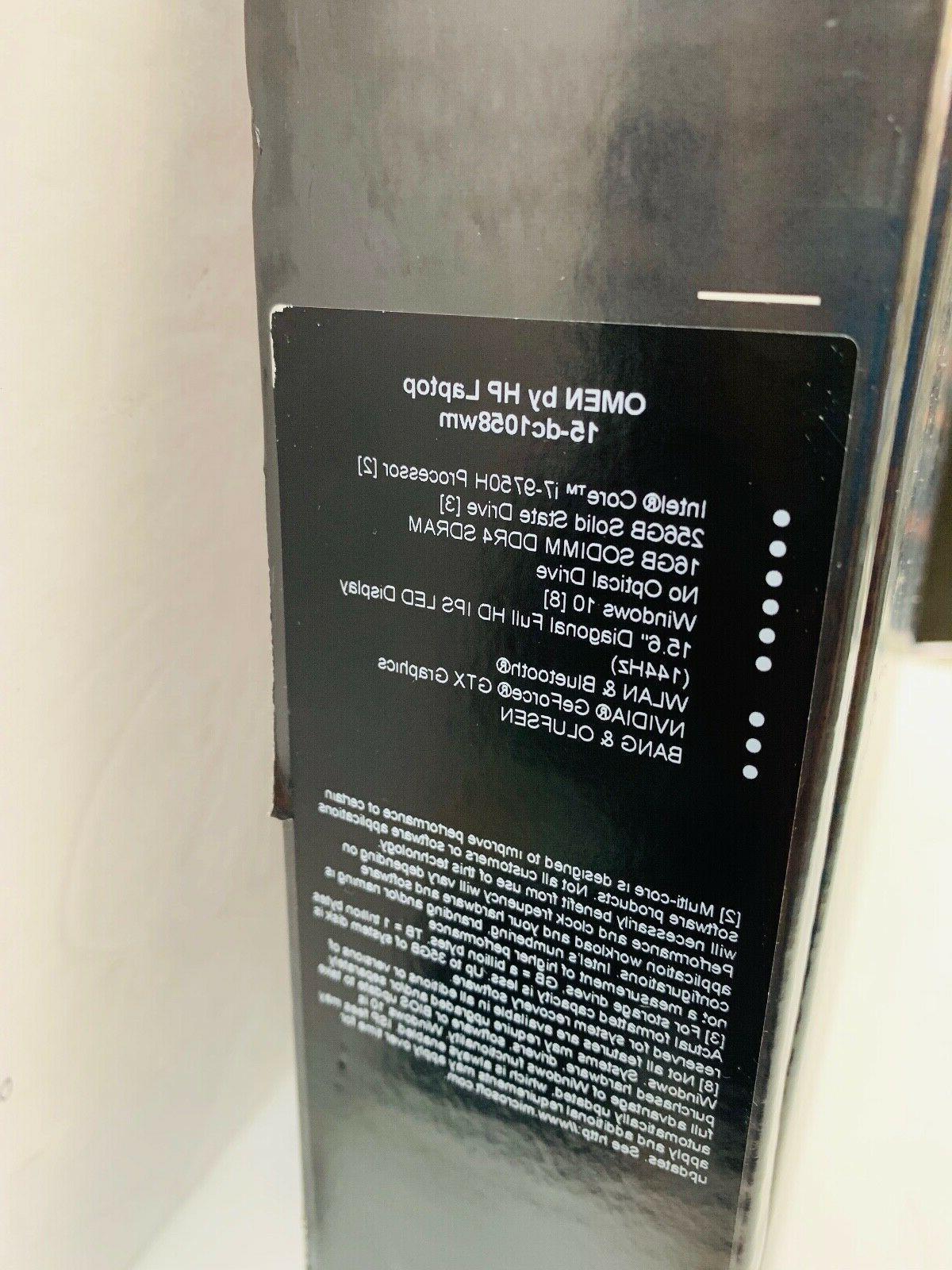 NEW HP Omen Gamer 15-dc1058wm Notebook i7-9750H