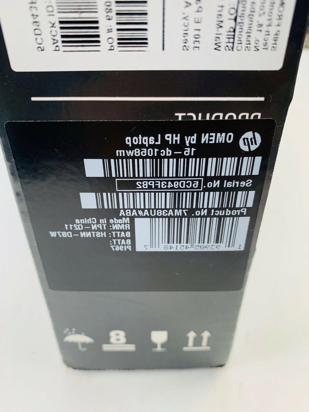new omen gaming gamer laptop 15 dc1058wm