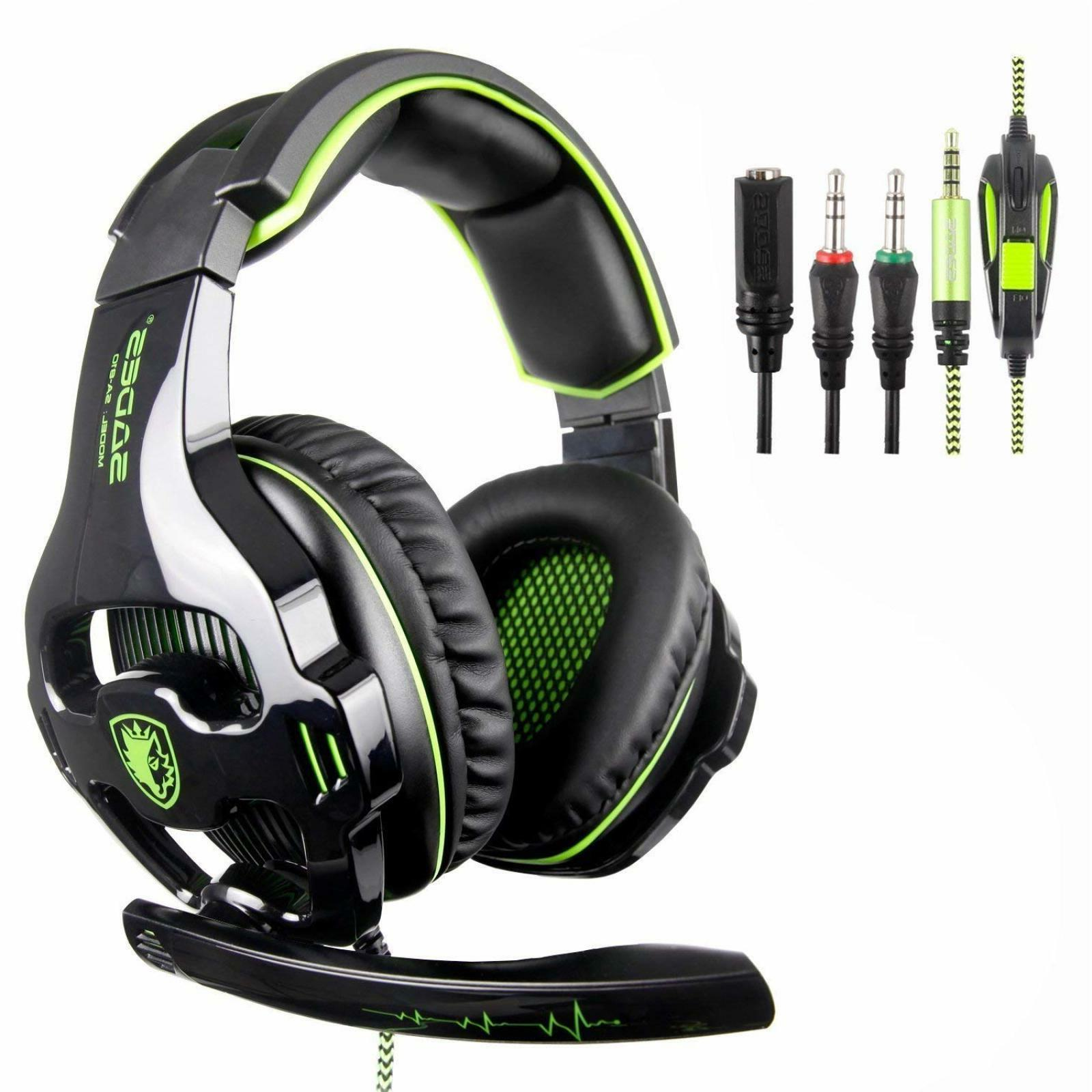 Stereo Gaming Headset Gamer Headphones Xbox One PC PS4 Ear C