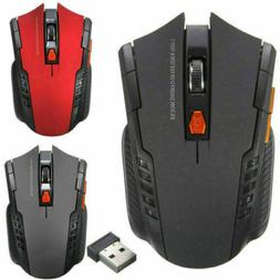 For PC Gaming Laptop 2.4GHz Wireless Optical Mouse Gamer USB