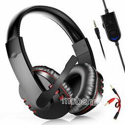 Pro Gamer Mic Gaming Headset Stereo Bass Surround Headphone