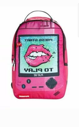 Sprayground Play Me Pink Gamer Laptop Backpack