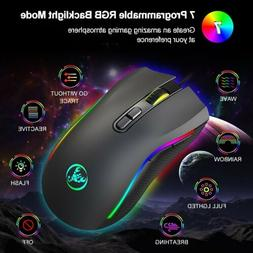 USB Gaming Mouse Wired Game Computer Mice with 7 Buttons for