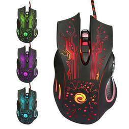 Wired Gaming Mouse 5500DPI 6-Button LED USB Optical for PC L